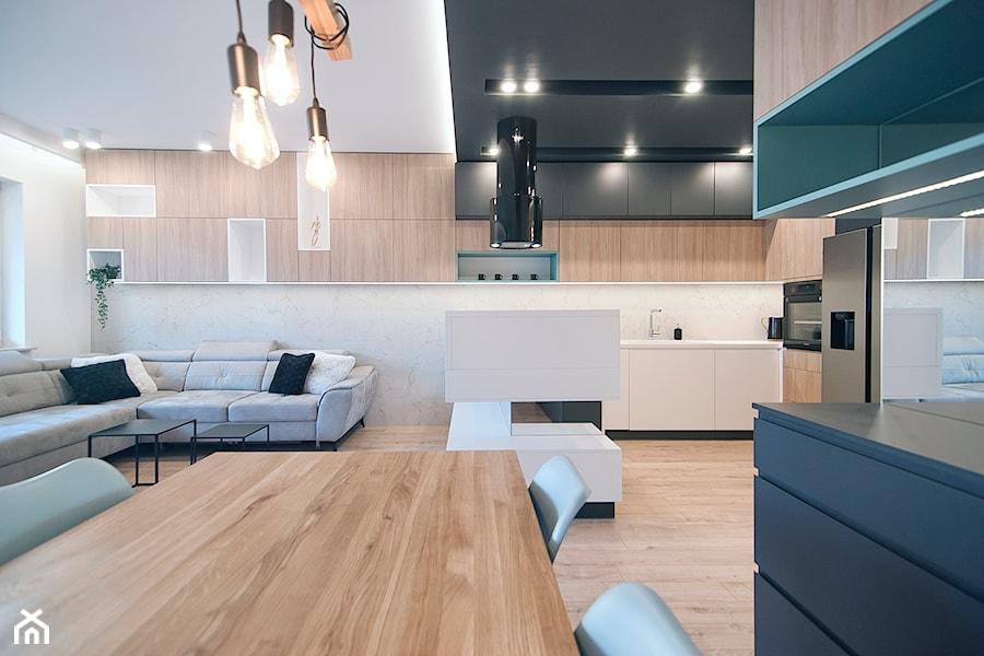 Apartament Eldorado - Kraków 2019 - Jadalnia, styl skandynawski - zdjęcie od NOVI art Pracownia projektowa