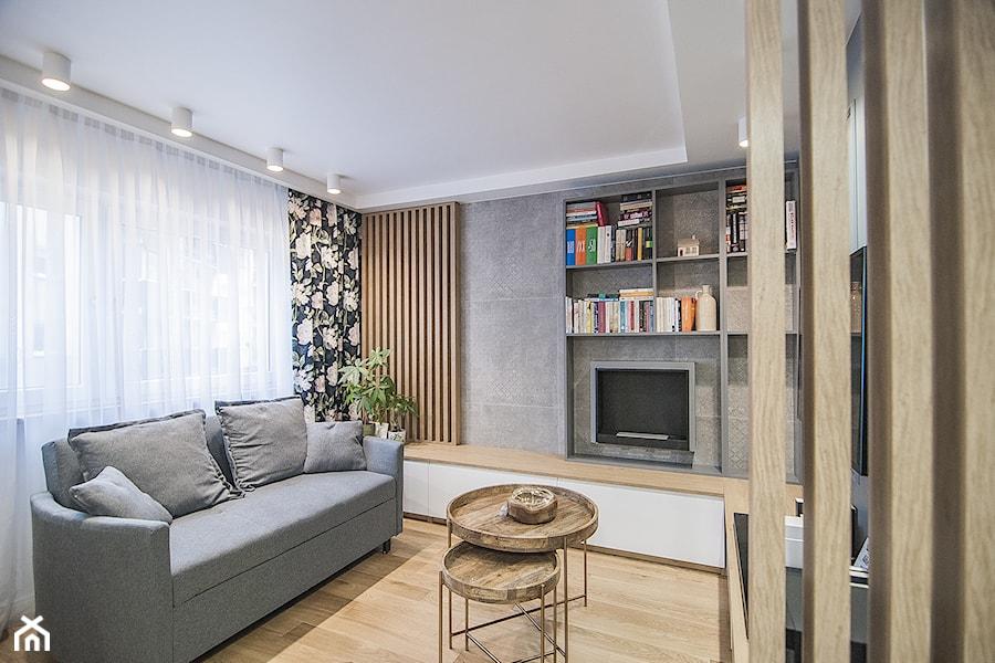 Mieszkanie Mistrzejowice - Kraków 2020 - Salon, styl nowoczesny - zdjęcie od NOVI art Pracownia projektowa