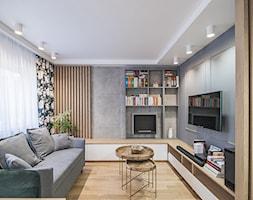 Mieszkanie Mistrzejowice - Kraków 2020 - Salon, styl nowoczesny - zdjęcie od NOVI art Pracownia projektowa - Homebook