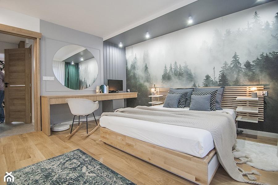 Mieszkanie Mistrzejowice - Kraków 2020 - Sypialnia, styl nowoczesny - zdjęcie od NOVI art Pracownia projektowa