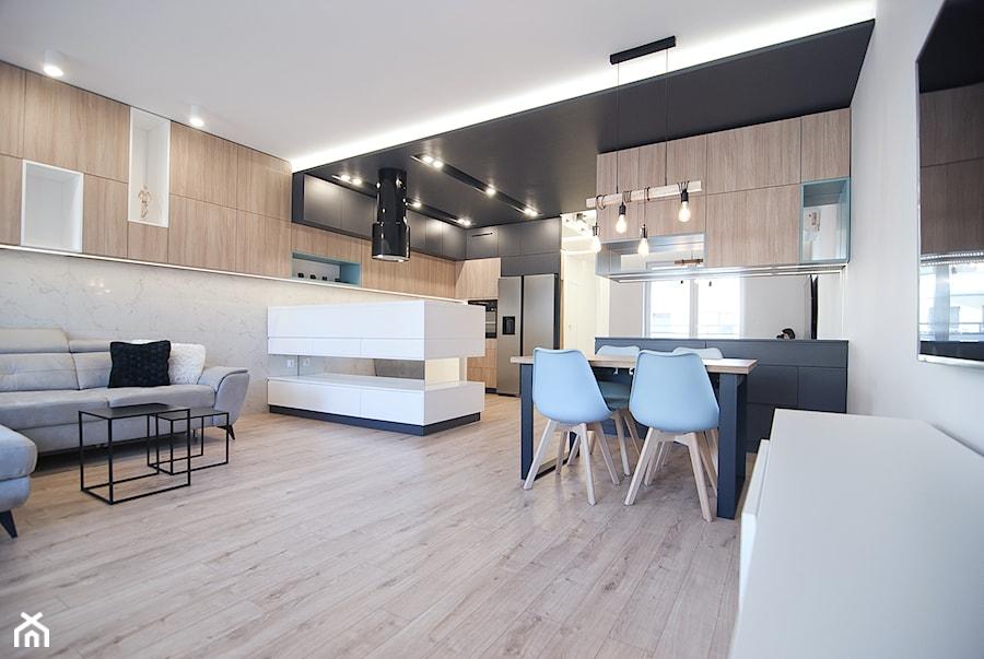 Mieszkanie Eldorado - Kraków 2019 - Salon, styl nowoczesny - zdjęcie od NOVI art Pracownia projektowa