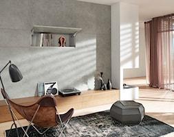 Szafki górne z podnośnikami zamiast drzwiczek - Salon, styl eklektyczny - zdjęcie od Blum - Homebook