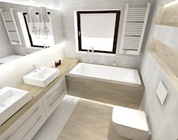 Projekt klasycznej łazienki - Mała łazienka w domu jednorodzinnym z oknem, styl klasyczny - zdjęcie od KP Pure Form