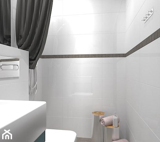 Mała Biała łazienka Styl Nowoczesny Zdjęcie Od Ludwee