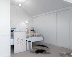 Niebiańsko! Pokój dziecięcy - Mały biały szary pokój dziecka dla chłopca dla dziewczynki dla nastolatka, styl klasyczny - zdjęcie od LUDWEE Pracownia Architektury Wnętrz Ewa Jasionowska