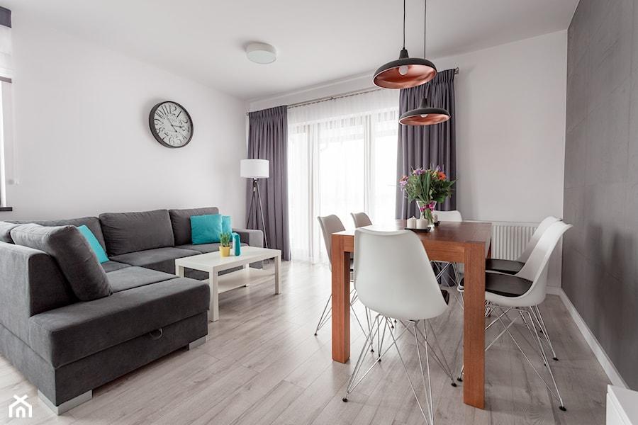 Realizacja wnętrza domu w Zalewie - Średni biały salon, styl nowoczesny - zdjęcie od Wnętrzowe Love