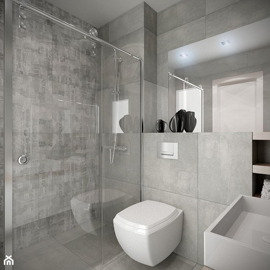 widok na WC i wnękę prysznicową - zdjęcie od Wnętrzowe Love