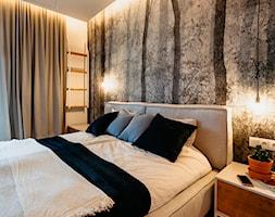 Fototapeta i półeczka w sypialni - zdjęcie od Wnętrzowe Love - Homebook