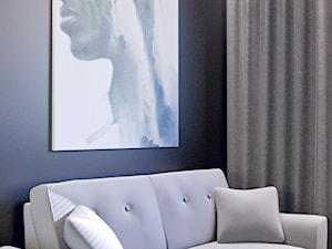 Drewno, grafit i złoto. - Średnie czarne biuro domowe kącik do pracy w pokoju, styl minimalistyczny - zdjęcie od Wnętrzowe Love