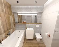 łazienka 45m2 Koszalin łazienka Styl Skandynawski