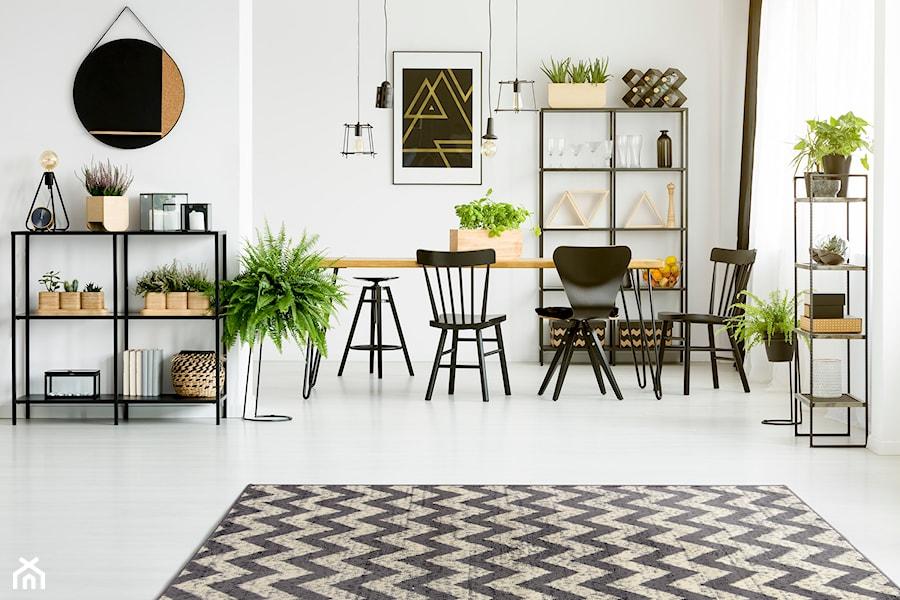 Dywany w najlepszej cenie - Średnia otwarta biała jadalnia jako osobne pomieszczenie - zdjęcie od Carpet For You