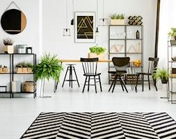 Dywany w najlepszej cenie - Duża otwarta biała jadalnia jako osobne pomieszczenie - zdjęcie od Carpet For You