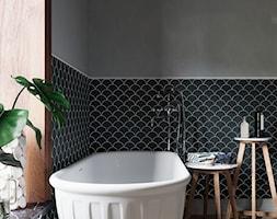 Ciemne Płytki Mozaika W łazience Kolekcja Raw Decor