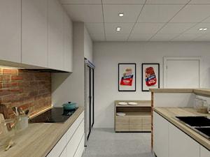 Aneks kuchenny - Średnia otwarta kuchnia jednorzędowa dwurzędowa, styl nowoczesny - zdjęcie od P&M_Pracownia