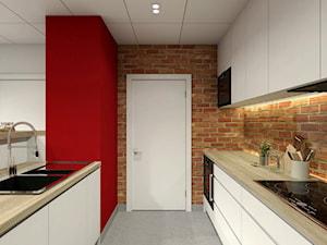 Aneks kuchenny - Duża otwarta wąska kuchnia jednorzędowa dwurzędowa, styl nowoczesny - zdjęcie od P&M_Pracownia