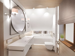Łazienka ze strefą dla Pań domu - zdjęcie od 3BSTUDIO