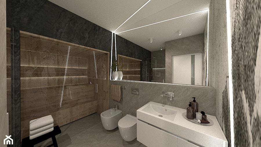 ANCHORIA MECHELINKI REGATOWA - Średnia czarna szara łazienka w bloku w domu jednorodzinnym bez okna, ... - zdjęcie od MOCHO. studio Monika Machowska
