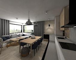 MECHELINKI ANCHORIA - Średnia otwarta biała jadalnia w kuchni w salonie - zdjęcie od MOCHO. studio Monika Machowska - Homebook