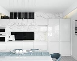 ANCHORIA MECHELINKI MODERN - Średnia otwarta biała czarna kuchnia jednorzędowa w aneksie, styl now ... - zdjęcie od MOCHO. studio Monika Machowska - Homebook