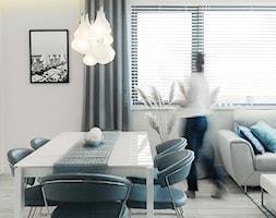 ANCHORIA MECHELINKI MODERN - Średni biały salon z jadalnią, styl nowoczesny - zdjęcie od MOCHO. studio Monika Machowska - Homebook