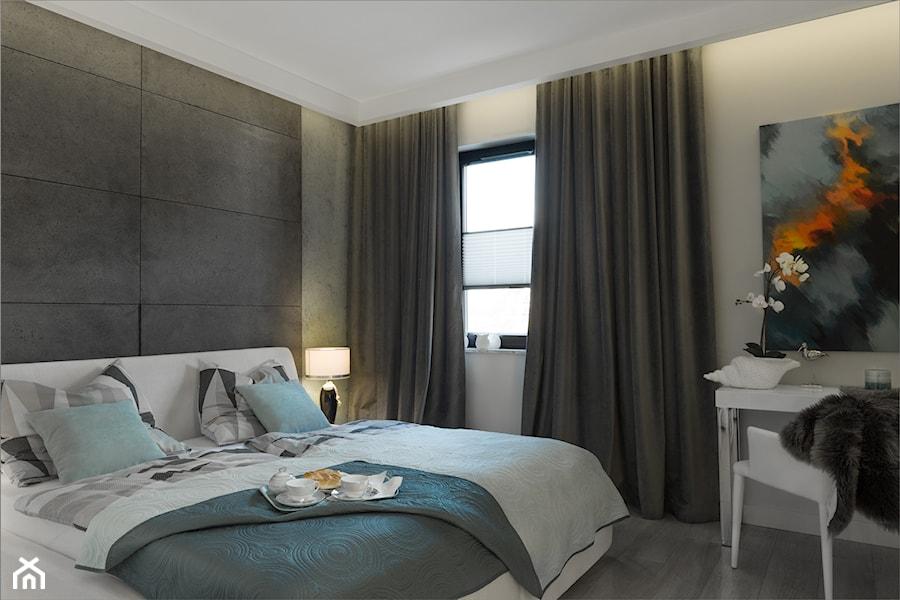 ANCHORIA MECHELINKI MODERN - Średnia czarna sypialnia małżeńska, styl nowoczesny - zdjęcie od MOCHO. studio Monika Machowska