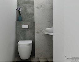 Na początku była łazienka - Mała biała łazienka, styl industrialny - zdjęcie od YOOKU PROJEKTANCI
