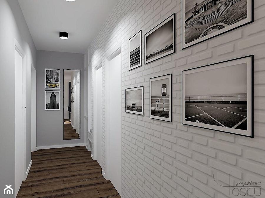 A może morze? - Duży biały szary hol / przedpokój, styl nowoczesny - zdjęcie od YOOKU PROJEKTANCI