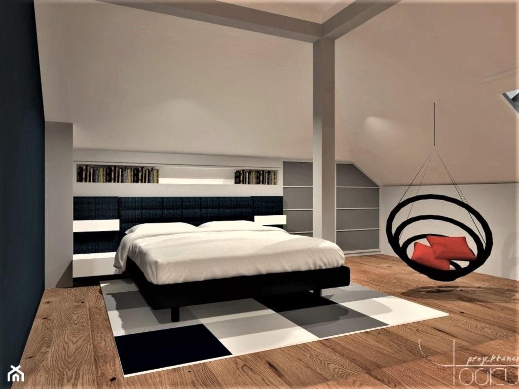 Dom w blasku - Duży biały szary beżowy niebieski pokój dziecka dla nastolatka, styl nowoczesny - zdjęcie od YOOKU PROJEKTANCI - Homebook