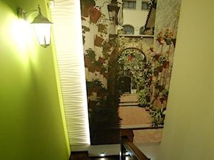 Dom w Borkowie - Średnie wąskie schody jednobiegowe zabiegowe drewniane, styl eklektyczny - zdjęcie od STUDIO del arte