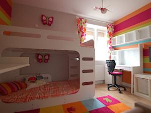 Pokój dziewczynek - Średni szary kolorowy pokój dziecka dla dziewczynki dla rodzeństwa dla malucha, styl nowoczesny - zdjęcie od STUDIO del arte