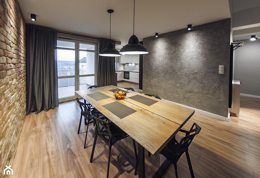 M6 - Duża otwarta jadalnia jako osobne pomieszczenie, styl nowoczesny - zdjęcie od TB