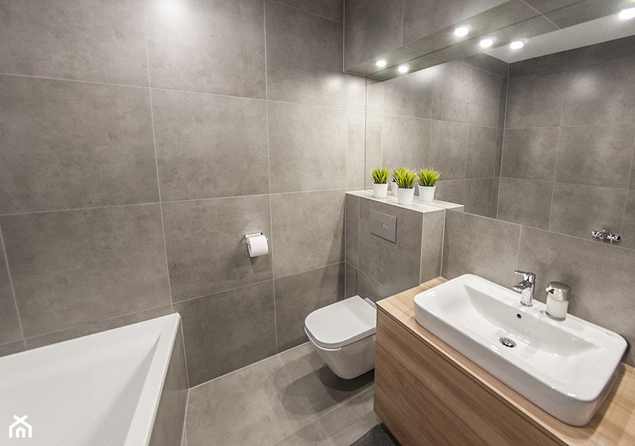 M6 średnia Szara łazienka Styl Nowoczesny Zdjęcie Od Tb