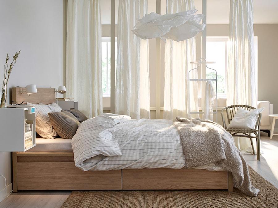Sypialnia IKEA - Biała sypialnia małżeńska, styl tradycyjny - zdjęcie od IKEA