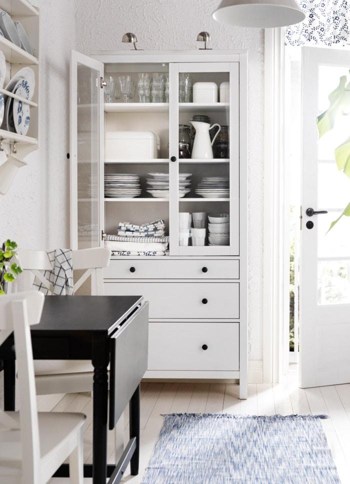 Pokój Dzienny Ikea Biała Kuchnia Styl Skandynawski