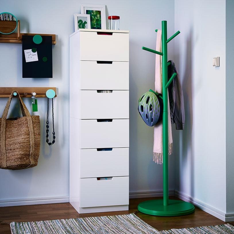 Przedpokój Ikea średni Biały Hol Przedpokój Zdjęcie Od