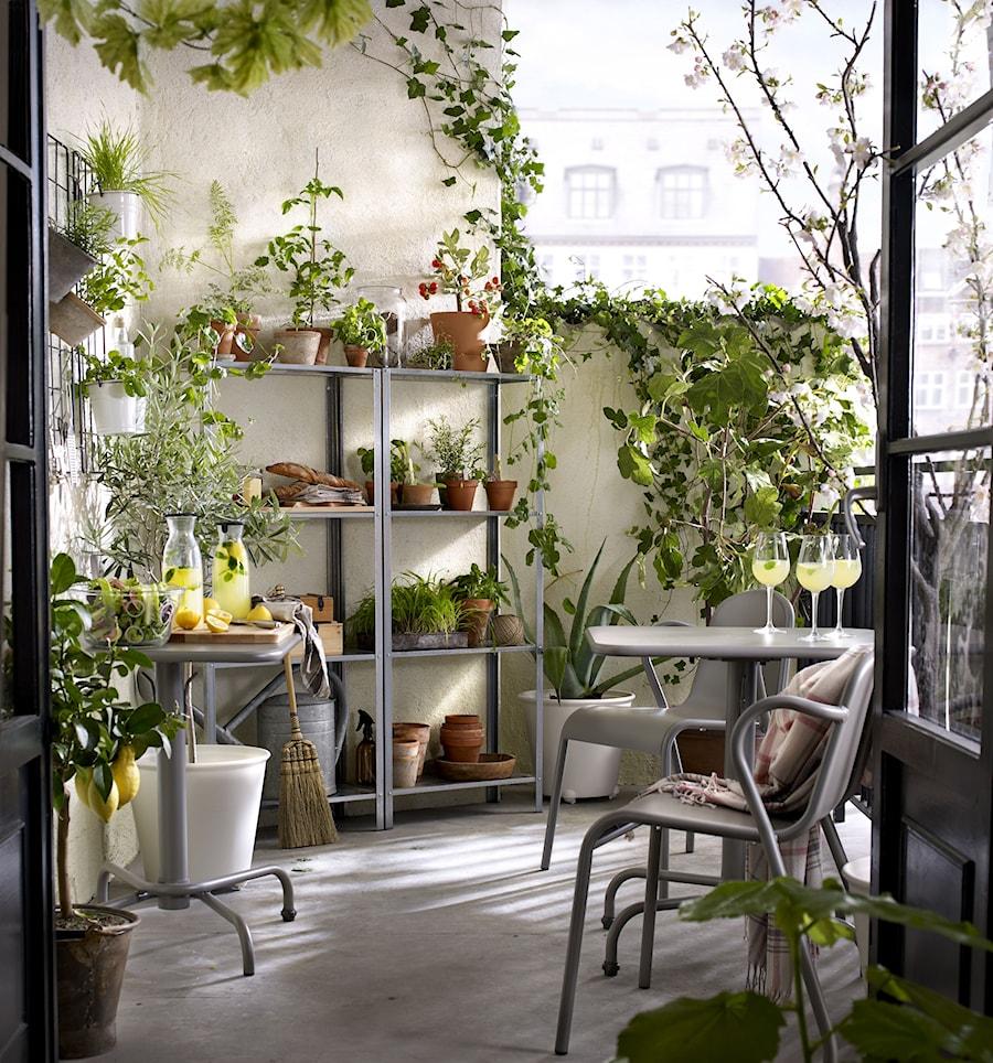 Balkon I Ogród Ikea Mały Taras Z Przodu Domu Z Tyłu Domu