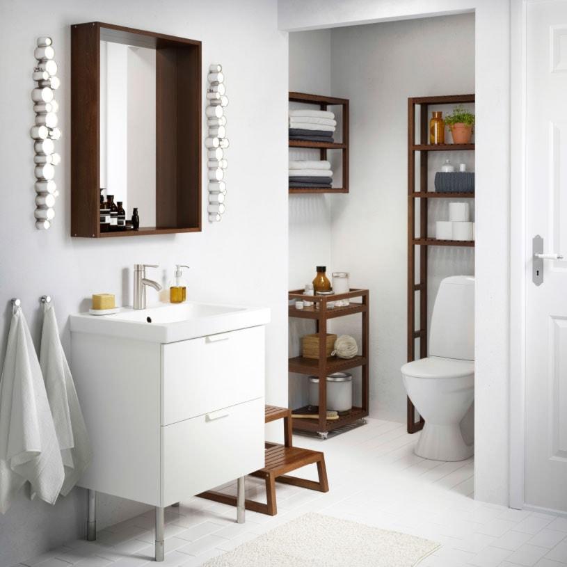 łazienka Ikea średnia Biała łazienka Zdjęcie Od Ikea
