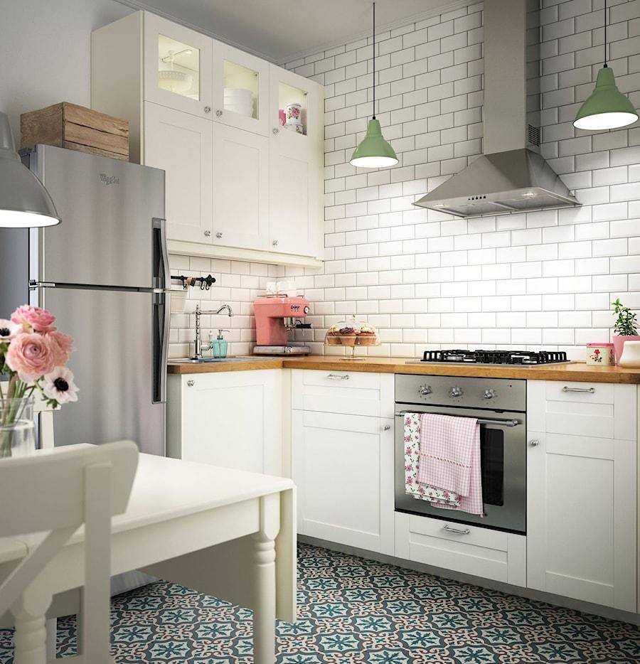 Kuchnia IKEA  Mała otwarta kuchnia w kształcie litery l w   -> Kuchnia Ikea Pomysly