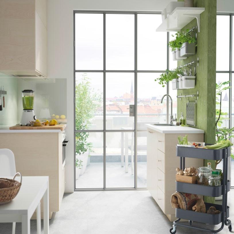 Kuchnia IKEA  Mała kuchnia dwurzędowa  zdjęcie od IKEA -> Kuchnia Ikea Askersund