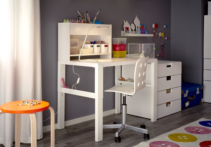 Pokój dziecka IKEA - Mały czarny pokój dziecka dla dziewczynki dla ucznia dla malucha dla nastolatka, styl nowoczesny - zdjęcie od IKEA