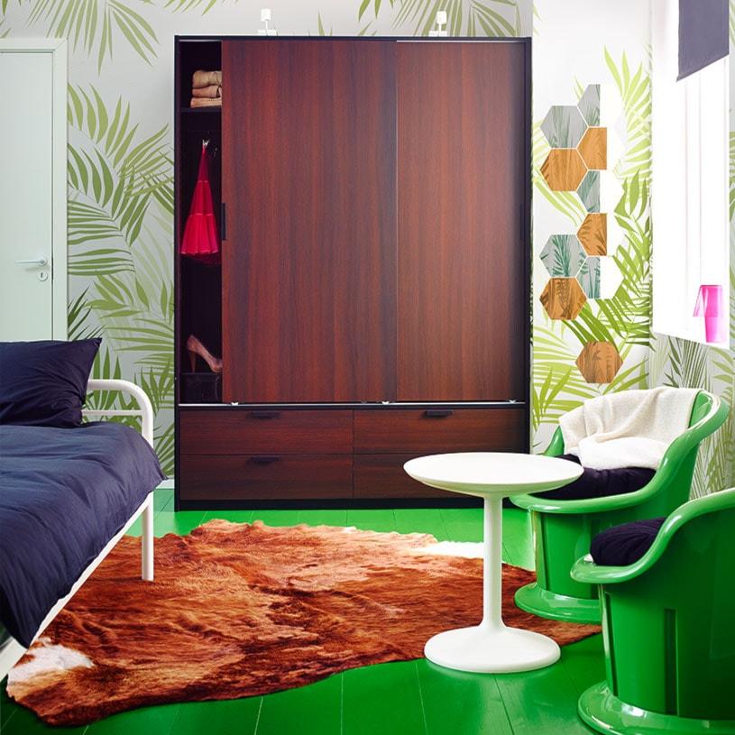 Sypialnia IKEA - Średnia sypialnia małżeńska, styl eklektyczny - zdjęcie od IKEA