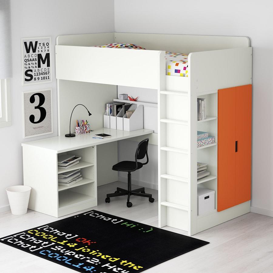 Pokój dziecka IKEA - Mały biały pokój dziecka dla chłopca dla dziewczynki dla ucznia dla nastolatka - zdjęcie od IKEA
