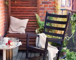 Balkon i ogród IKEA - Mały taras rustykalny, styl rustykalny - zdjęcie od IKEA
