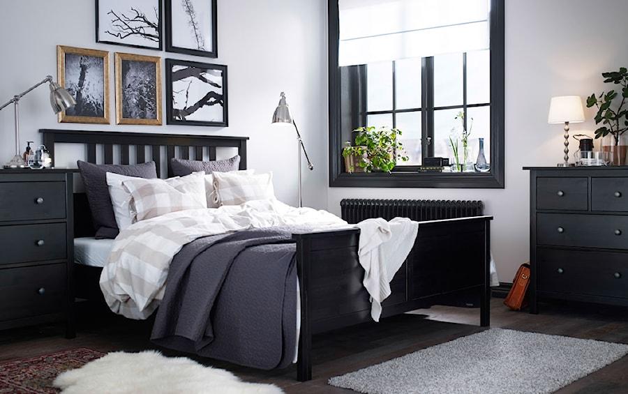 sypialnia ikea Średnia bia�a sypialnia ma�że�ska styl