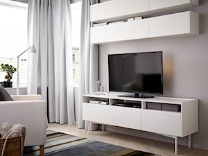 Pokój dzienny IKEA - Mały szary salon, styl nowoczesny - zdjęcie od IKEA