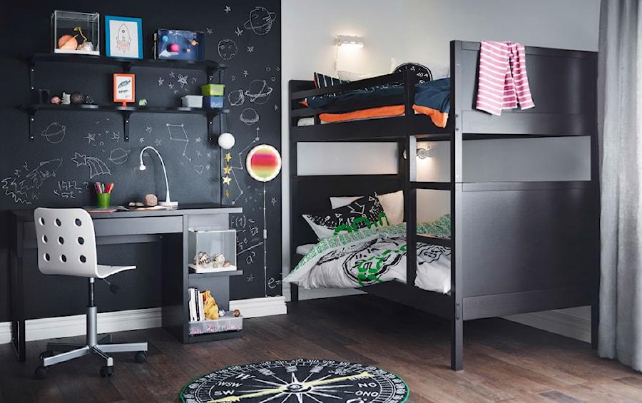 Pokój dziecka IKEA - Średni biały czarny pokój dziecka dla chłopca dla rodzeństwa dla malucha - zdjęcie od IKEA