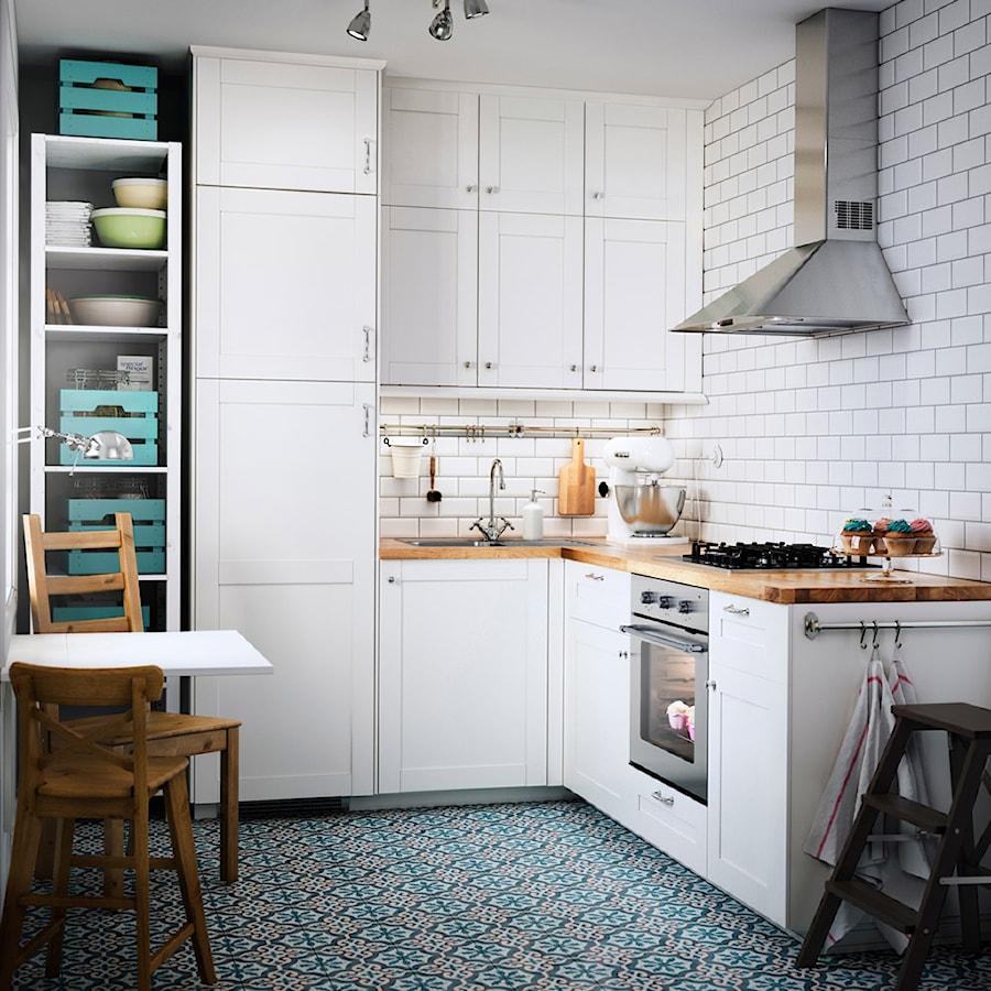 kuchnia ikea ma a zamkni ta bia a kuchnia w kszta cie litery l styl skandynawski zdj cie od. Black Bedroom Furniture Sets. Home Design Ideas