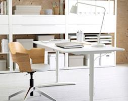 Domowe biuro IKEA - Małe brązowe biuro pracownia - zdjęcie od IKEA