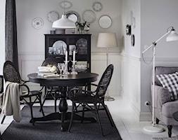 Jadalnia IKEA - Średnia otwarta biała jadalnia w salonie, styl vintage - zdjęcie od IKEA
