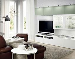 Pokój dzienny IKEA - Mały biały salon z tarasem / balkonem - zdjęcie od IKEA